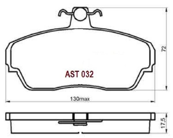 Купить тормозные колодки AST032 в компании AutoStandart