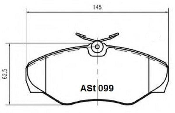 Купить тормозные колодки AST099 в компании AutoStandart