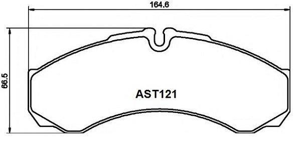 Купить тормозные колодки AST121 в компании AutoStandart