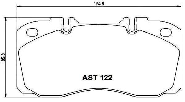 Купить тормозные колодки AST122 в компании AutoStandart