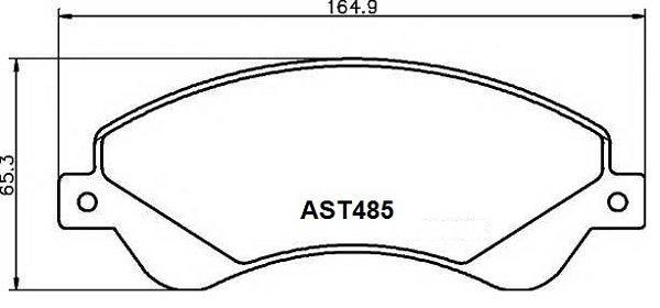 Купить тормозные колодки AST485 в компании AutoStandart