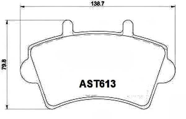 Купить тормозные колодки AST613 в компании AutoStandart