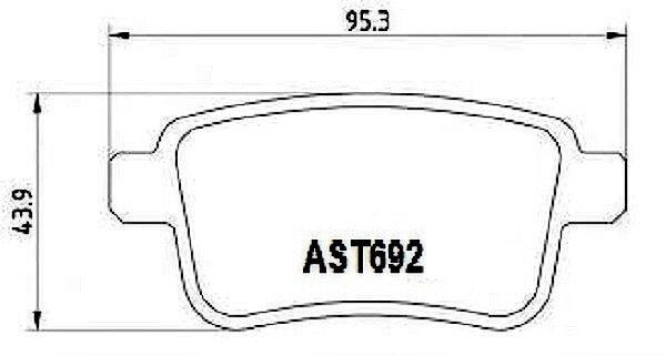 Купить тормозные колодки AST692 в компании AutoStandart