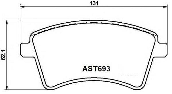 Купить тормозные колодки AST693 в компании AutoStandart