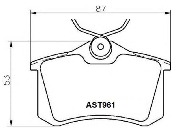 Купить тормозные колодки AST961 в компании AutoStandart