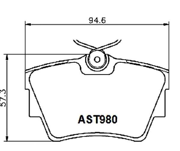 Купить тормозные колодки AST980 в компании AutoStandart